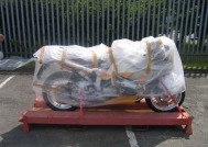 Bubble wrap to protect the bike